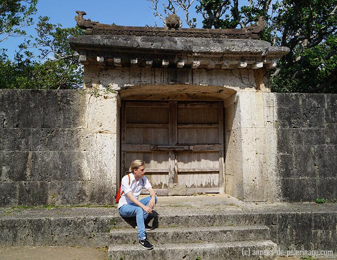 The Sonohyan-utaki - an UNESCO World Heritage site at shuri castle. Behind it lies a sacred garden.