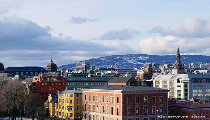 The view on Oslo's city center