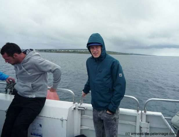 Me on the ferry to aran islands, Ireland