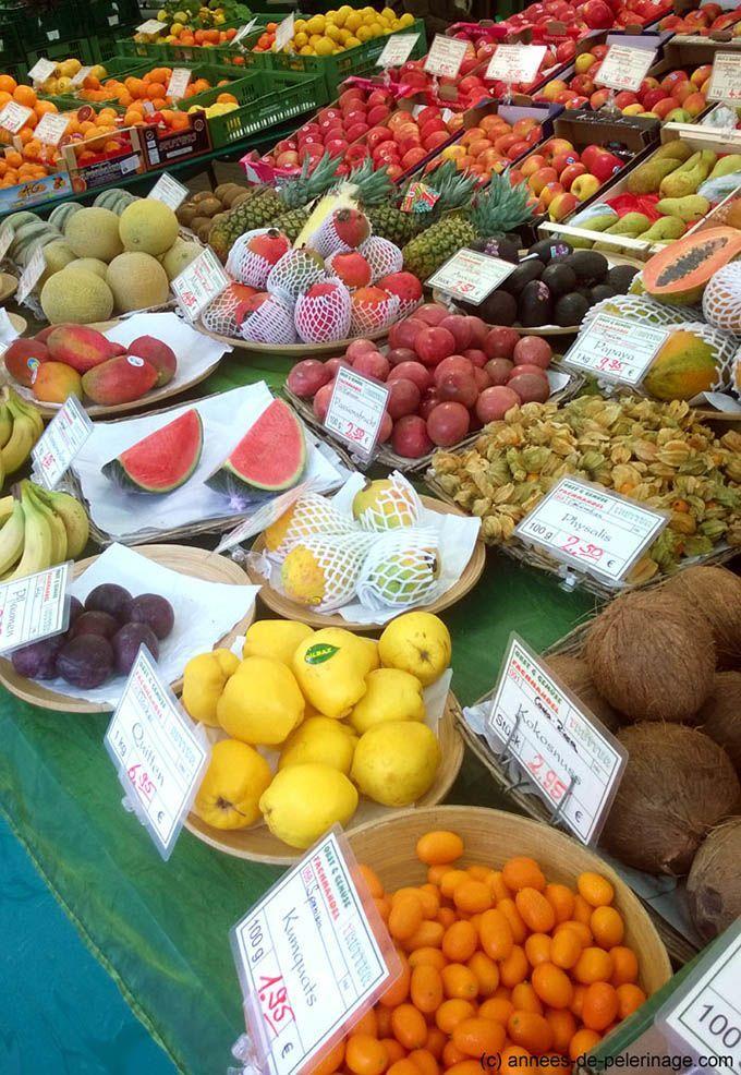 fruit vendor at viktualienmarkt munich, bavaria