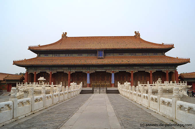 The hall of Heavenly purity at the Forbidden City in Beijing