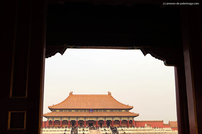 The Hall of supreme Harmony seen through the Gate of supreme Harmony