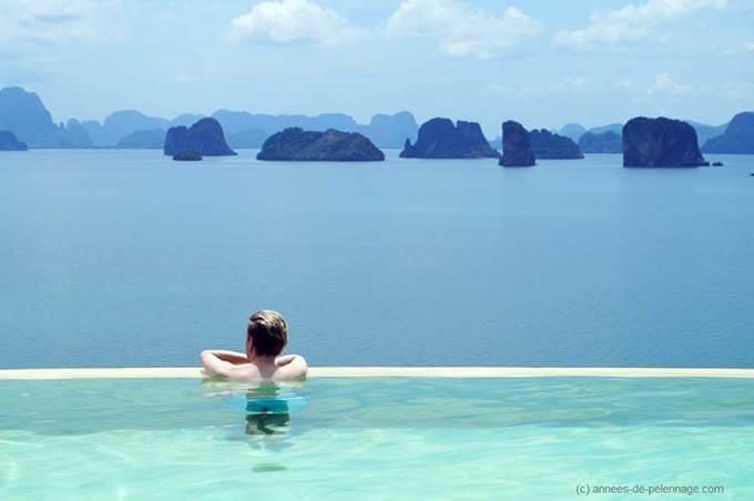 The infinitypool at six senses koh yao noi. I even packed my own pillow for this trip.