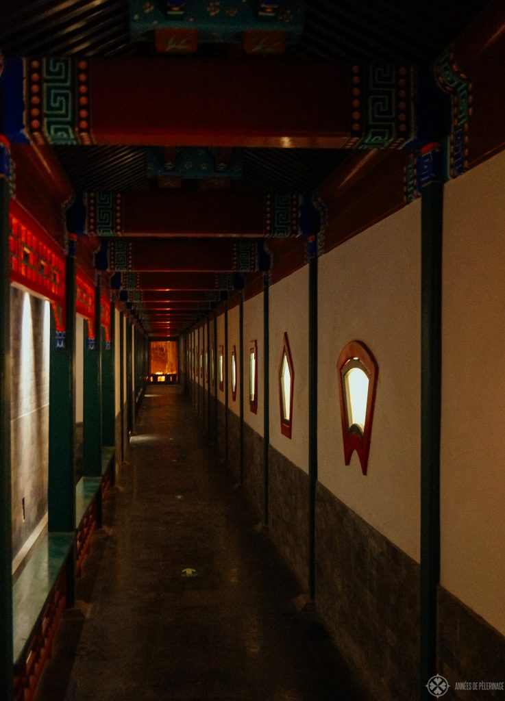 hallway aman at summer palace Beijing, china