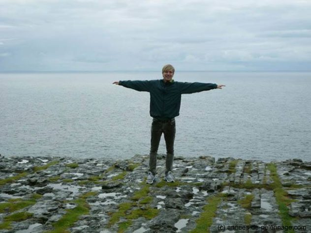 me at the cliff of Dún Aonghasa, Inishmore, Ireland