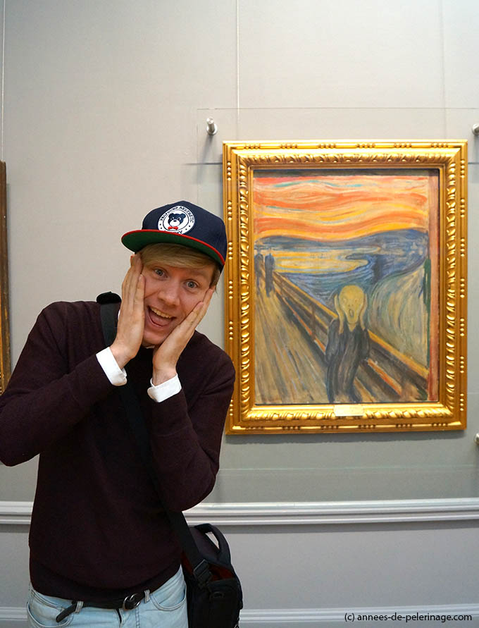 "Me in front of Munch's painting ""The Scream"" at National Gallery Oslo"