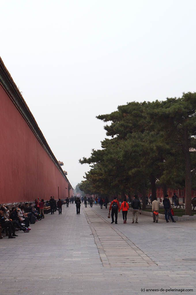 Outer wall on the north end of the forbidden city in Beijing