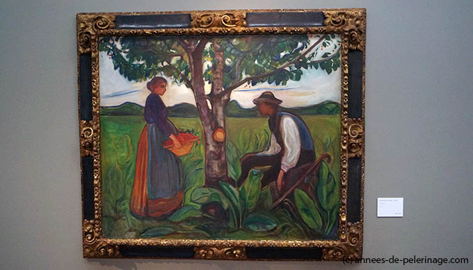 A painting by norwegian artis edvard munch at the edvard munch museum oslo