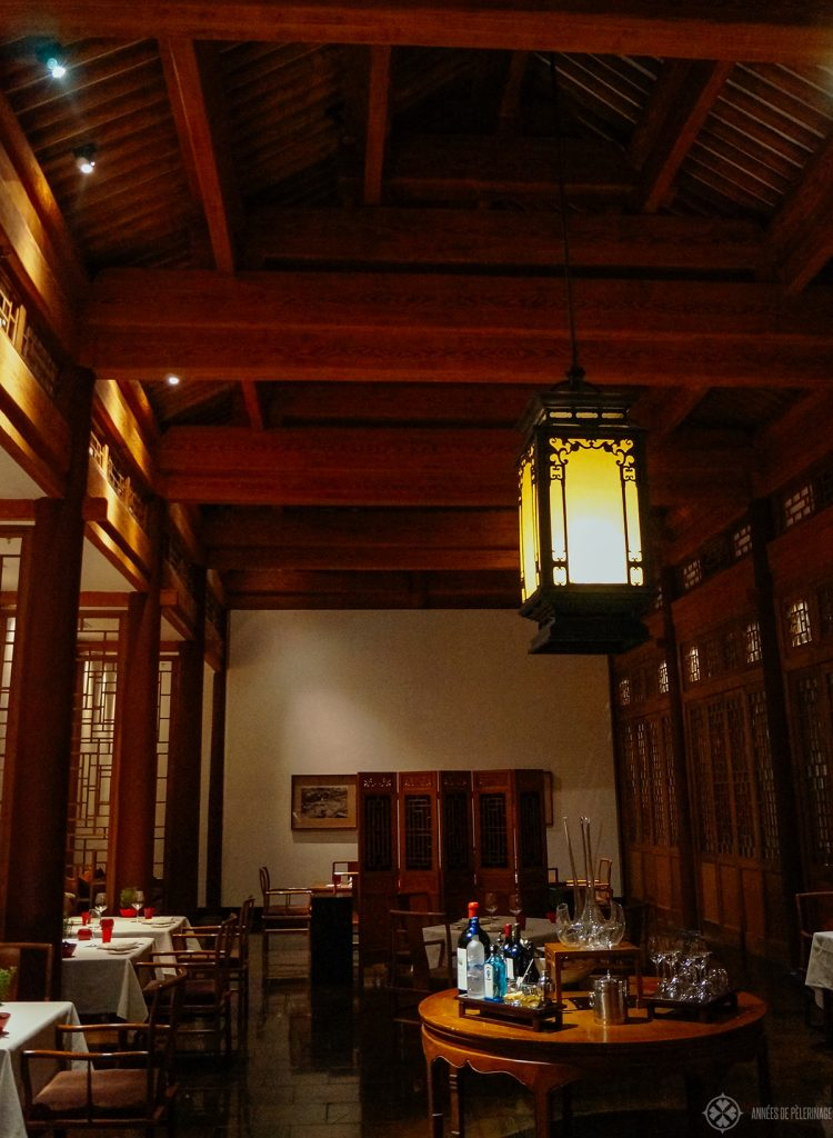 The breakfast restaurant at Aman at Summer Palace Beijing