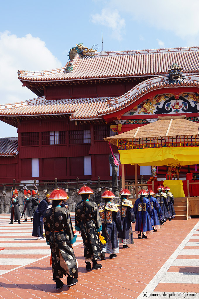 Chinese emissaries entering shuri castle during the Vassal ceremony