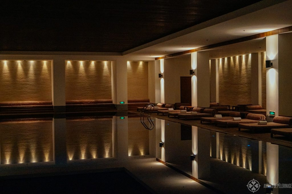 The underground spa at Aman at Summer Palace Beijing - the best luxury hotel in Beijing