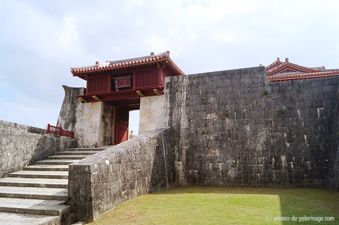 Stone Gate of Shuri Castle in Naha, Okinawa Prefecture, Japan