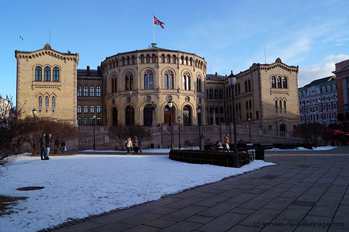 The Storting in Oslo - home to the Norwegian parliament