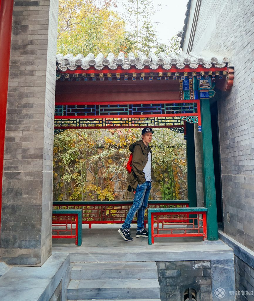 Walking towards the secret door into the Summer Palace