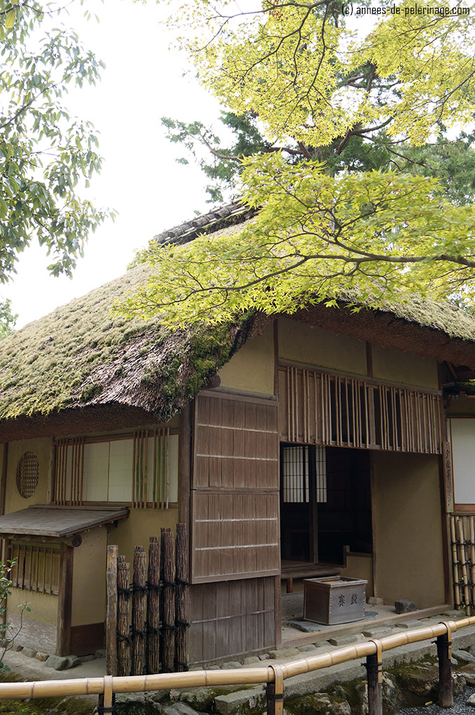 The sekkaitei tea house in the gardens of kinkaku-ji's golden pavilion