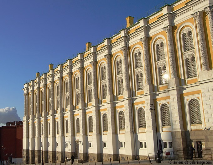 The kremlin Armoury Museum, moscow where the Fabergé eggs can be seen