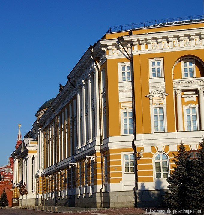 The Kremlin Senate - the gigantic yellow buildings is off limits for tourists