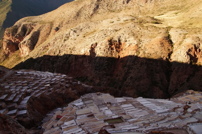 Maras salt evaporation ponds in Peru - the salt mines of the inca