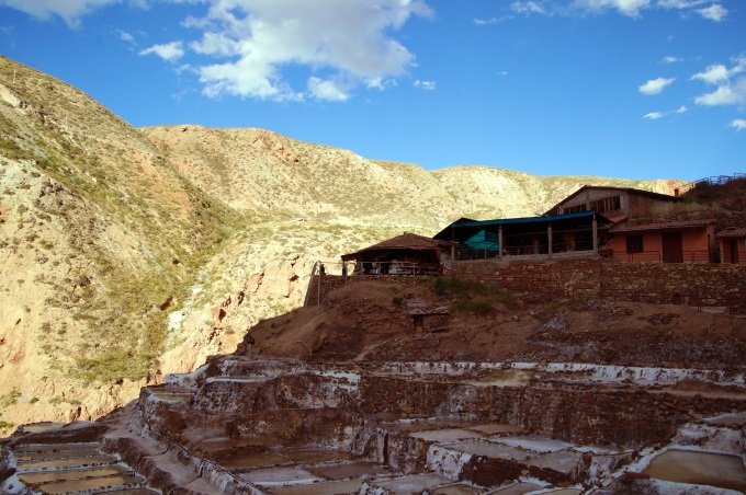 The souvenir shop at Maras salt mines, Peru