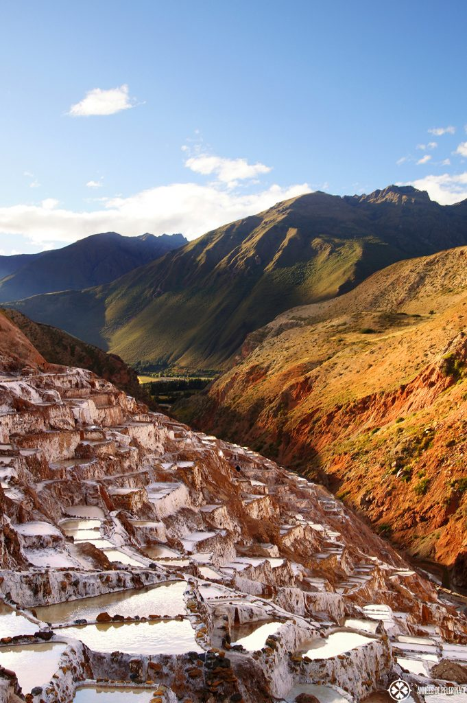 The Maras salt mines are an ancient inca site in the sacred valley of the Incas only a short day trip from Cusco