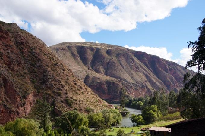 The Urubamba valley near the entrance to the Maras Salt mines