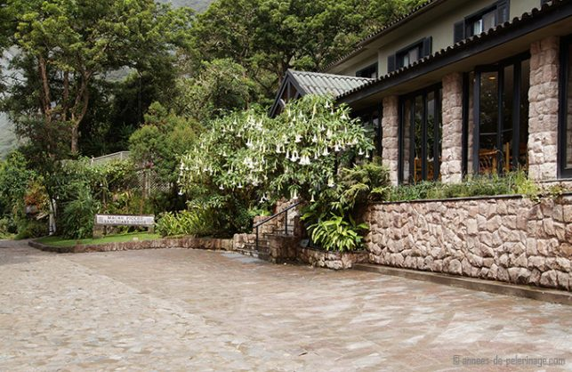 Belmond Sanctuary lodge luxury hotel machu picchu from outside
