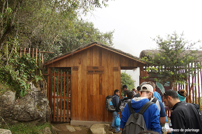 The entrance checkpoint of wayna picchu