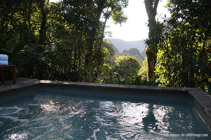hot tub with view on wayna picchu belmond sanctuary lodge