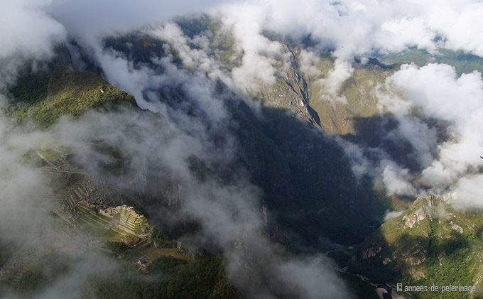 Beautiful as well: machu picchu hidden in the clouds