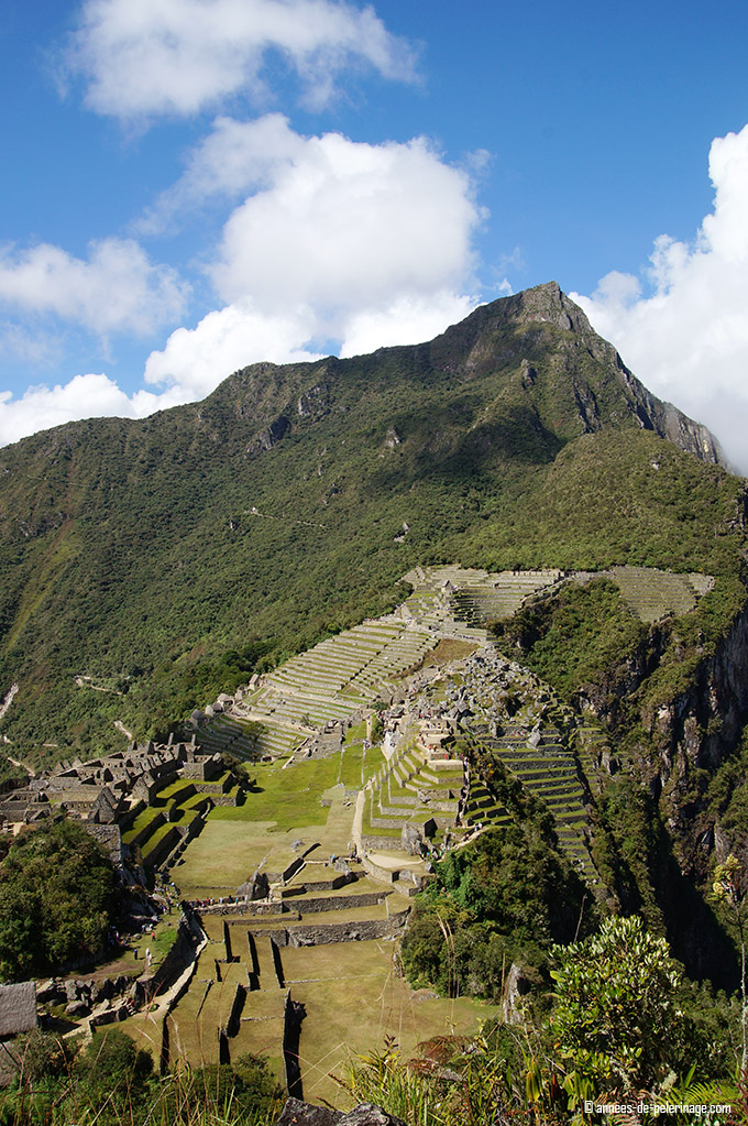 The view on Machu Picchu from Huchuy Picchu - so muhc closer.