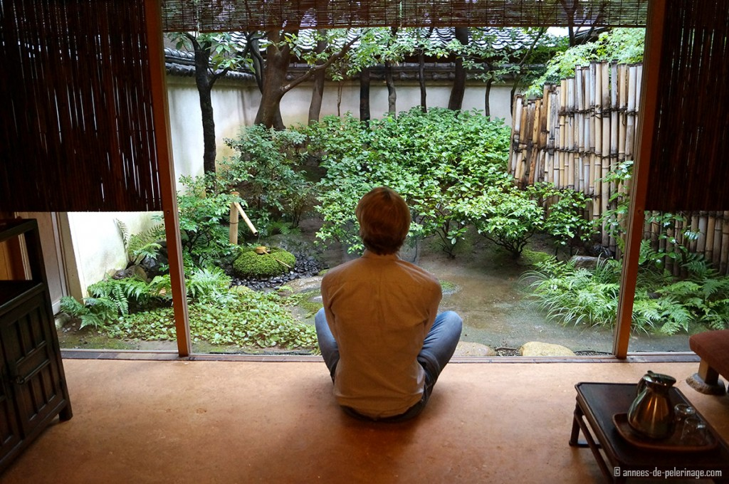 enjoying the en suite zen garden tawaraya ryokan