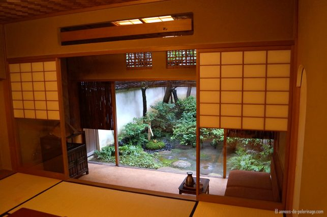 Room in a traditional Ryokan with its own private zen garden in Kyoto