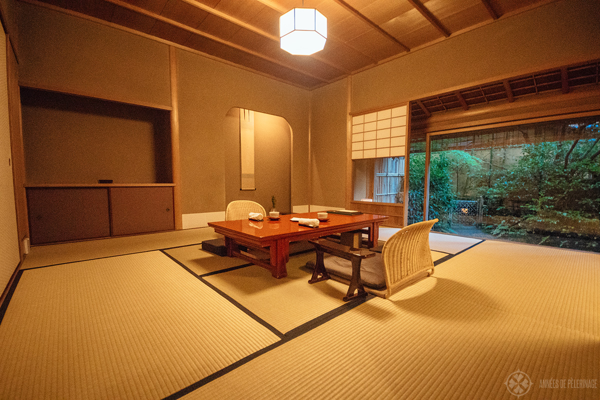 The rooms at tawaraya ryokan in Kyoto, Japan
