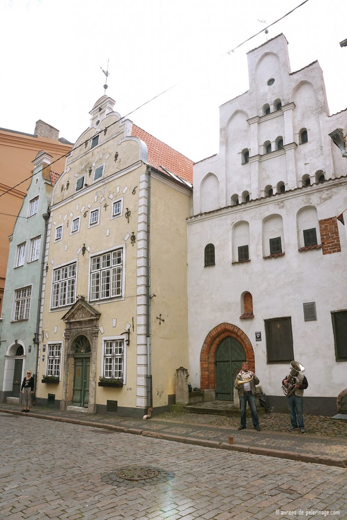 The three brother houses in Riga, Latvia