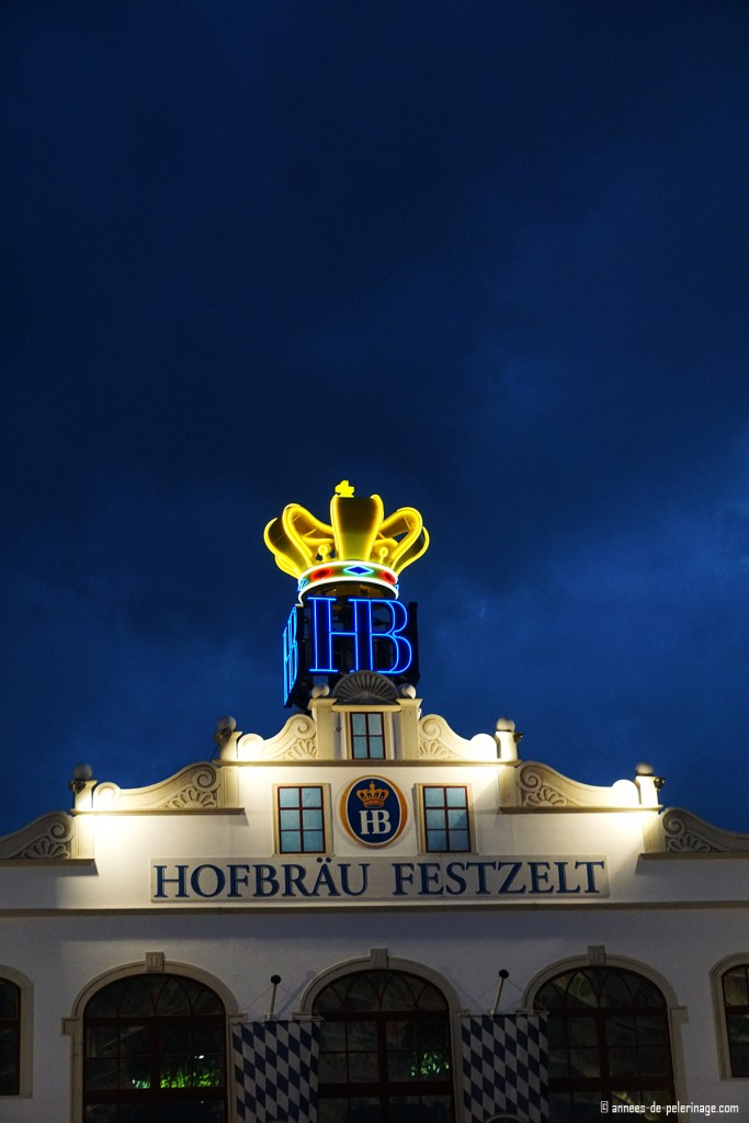 The hofbräu beer tent at night - oktoberfest at its best