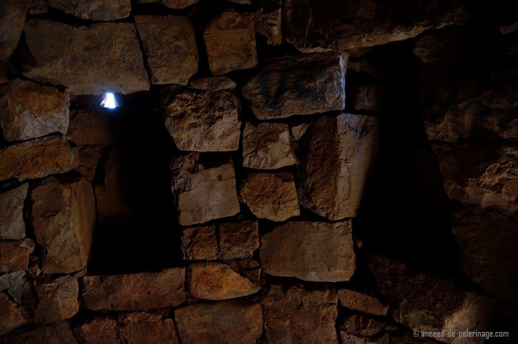 Inside the burial chambers of the chullpa lake titicaca peru, where the mummies sat in fetal positions