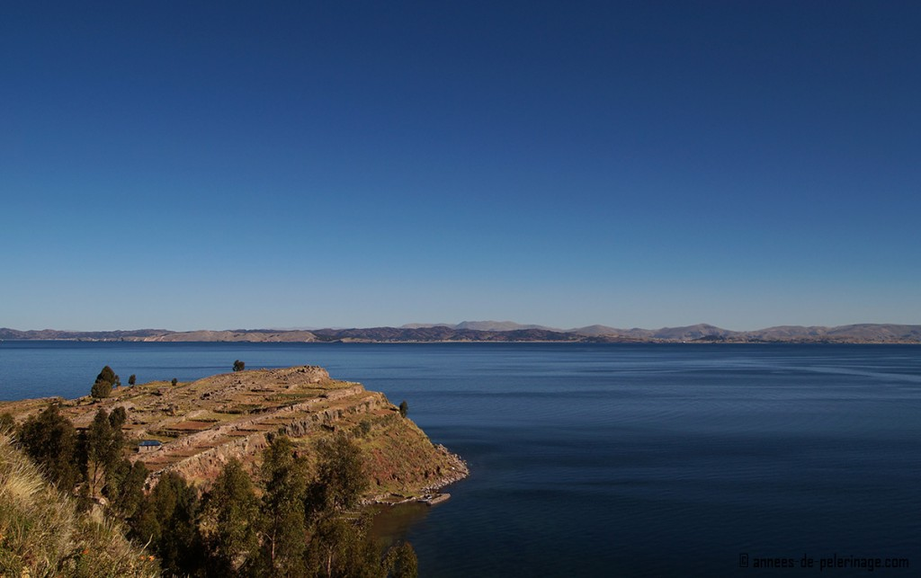 The most southern end of Taquile Islands lake titicaca, peru