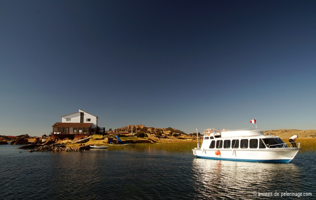hotel titilaka with a private boat leaving for taquile islands lake titicaca peru