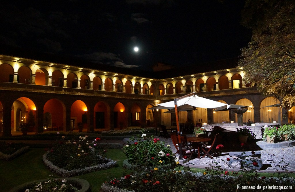 The Belmond Monasterio luxury hotel in Cusco Peru at night