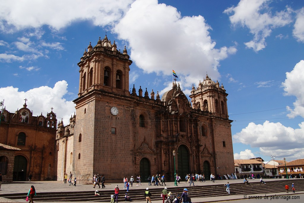 Cathedral of Santo Domingo on the main square in Cusco, peru
