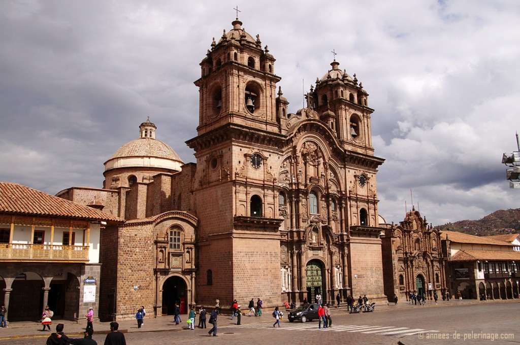 Iglesia de la Compania de Jesus on the main square of Cusco, Peru