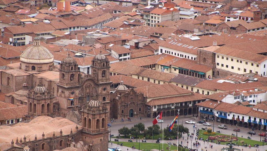 Plaza de Armas as seen from above