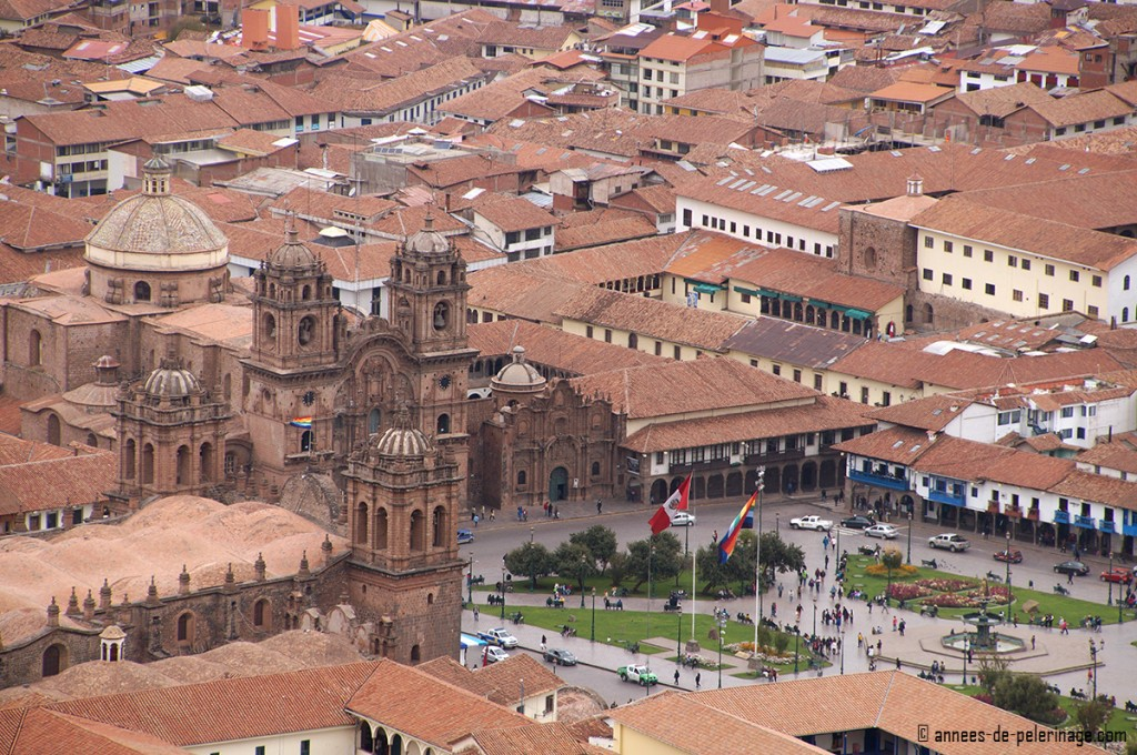 Things to do in Cusco: Enjoy the view on the Plaza de Armas from Cristo Blanco