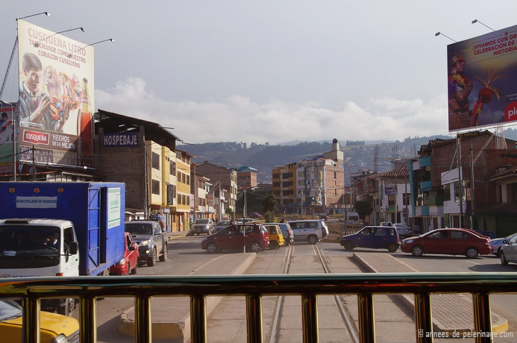 The andean Explorer train leaving Cusco on its way to Puno