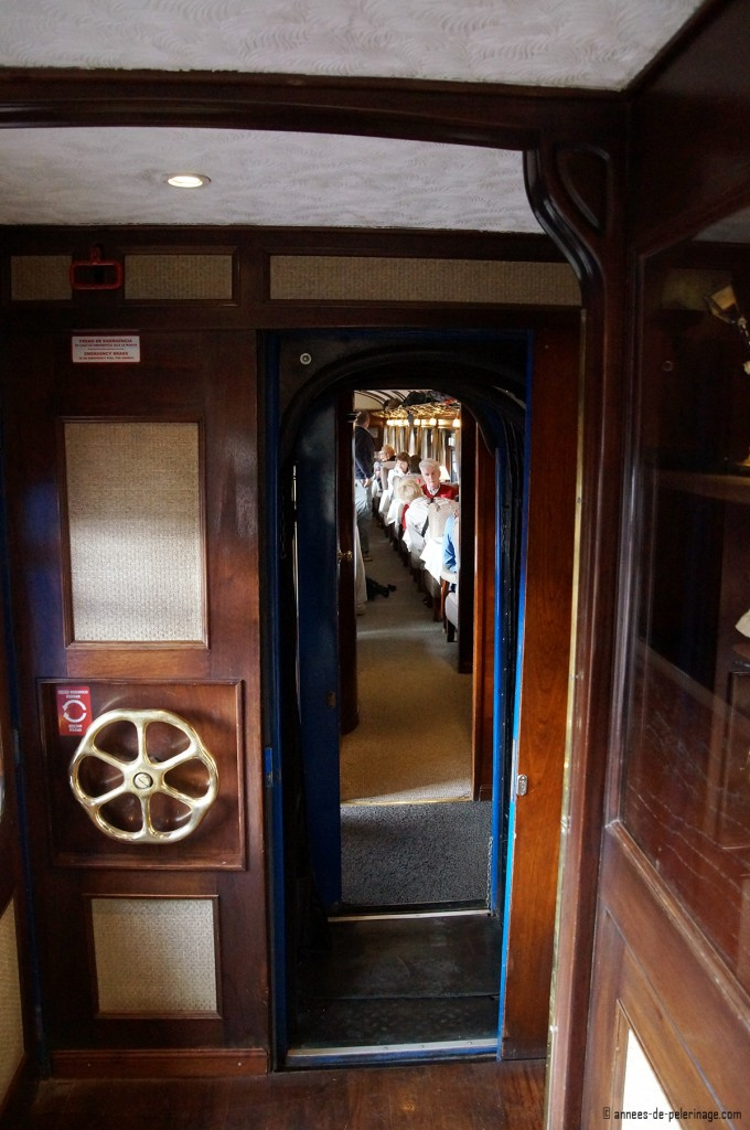 A view down the aisles of the Andean explorer luxury train
