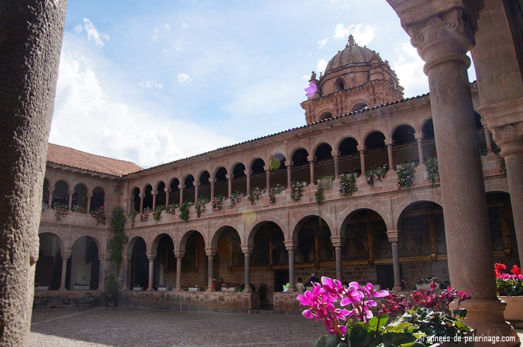 The courtyard inside the Convent of Santo Domingo built on ancient inca foundations
