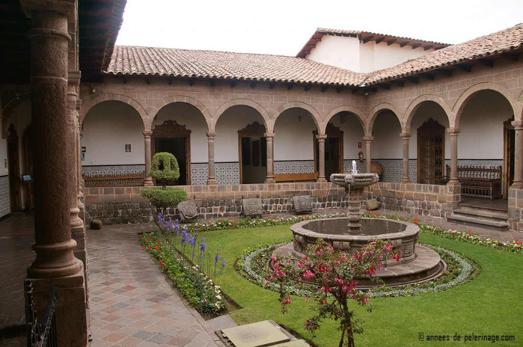 The courtyard in the Archbishop palace in Cusco, Peru