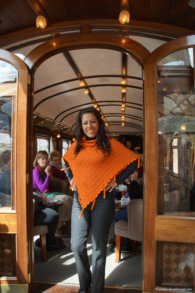 The Fashion show onboard the Andean Explorer - quite comon on Peru Rail trains