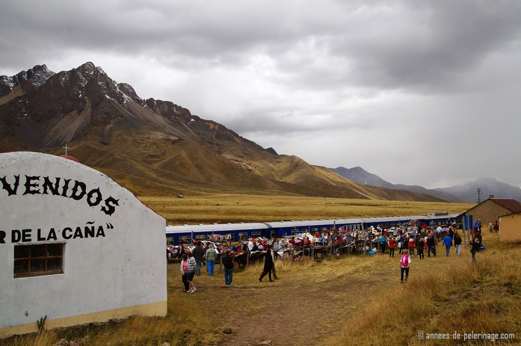 The market at the highest point of the Andean Explorer - La Raya pass