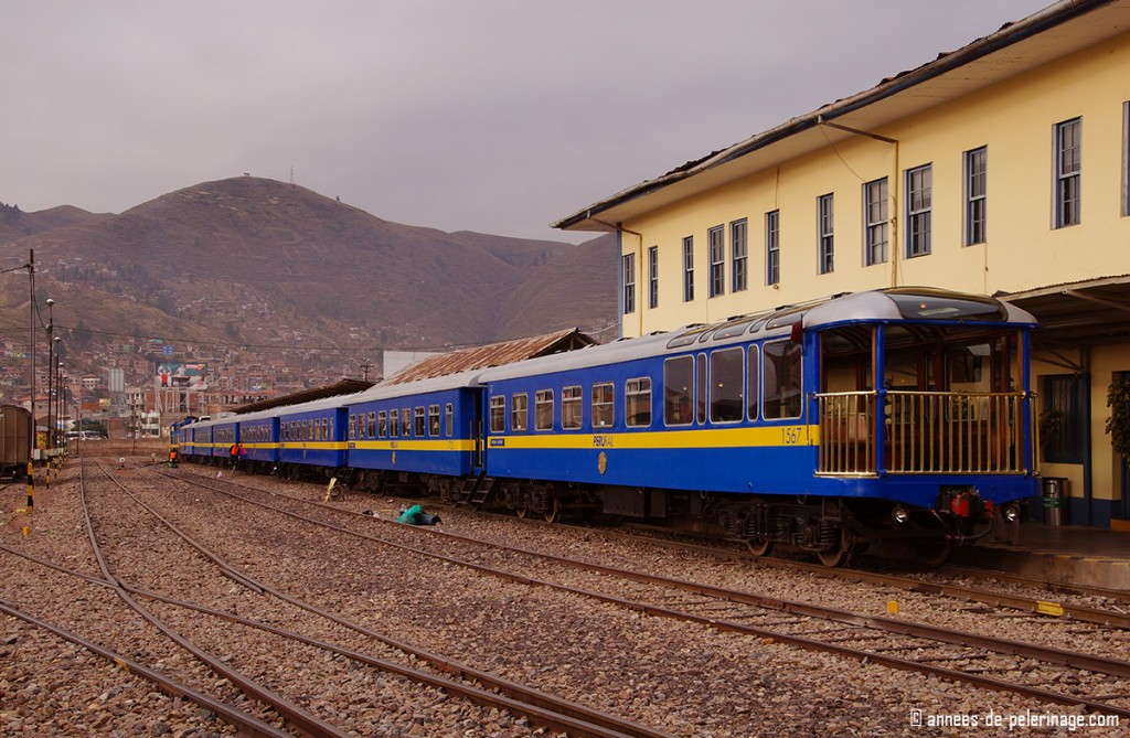 The Peru Rail train station in Cusco, where the andean explorer leaves, in the early morning